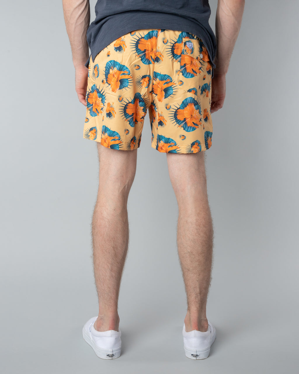 Swim Trunks ~ Yellow Floral