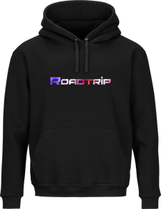 Road Trip Multi Colour Logo Hoodie - Black