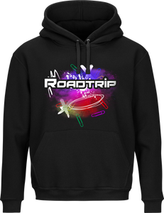 Road Trip Multicolour Splash Hoodie - Black