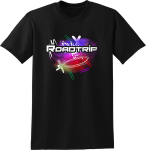 Road Trip Multicolour Splash T-Shirt - Black