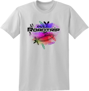 Road Trip Multicolour Splash T-Shirt - White