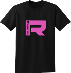 Road Trip Pink R T-Shirt - Black
