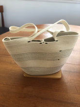 Load image into Gallery viewer, Beach and Gym Tote - Natural Cotton, shopping tote