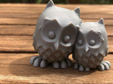 Load image into Gallery viewer, Cute Cuddling Owls, loving owl pair