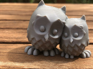 Cute Cuddling Owls, loving owl pair