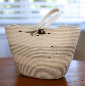 Beach and Gym Tote - Natural Cotton, shopping tote