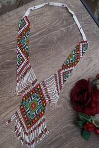 Ukrainian Traditional Necklace Gerdan Chervona Ruta