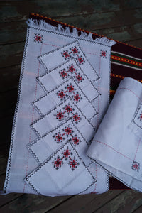 Set of Napkins With Traditional Ukrainian Embroidery