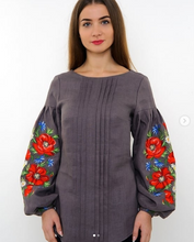 Load image into Gallery viewer, Blouse with poppies