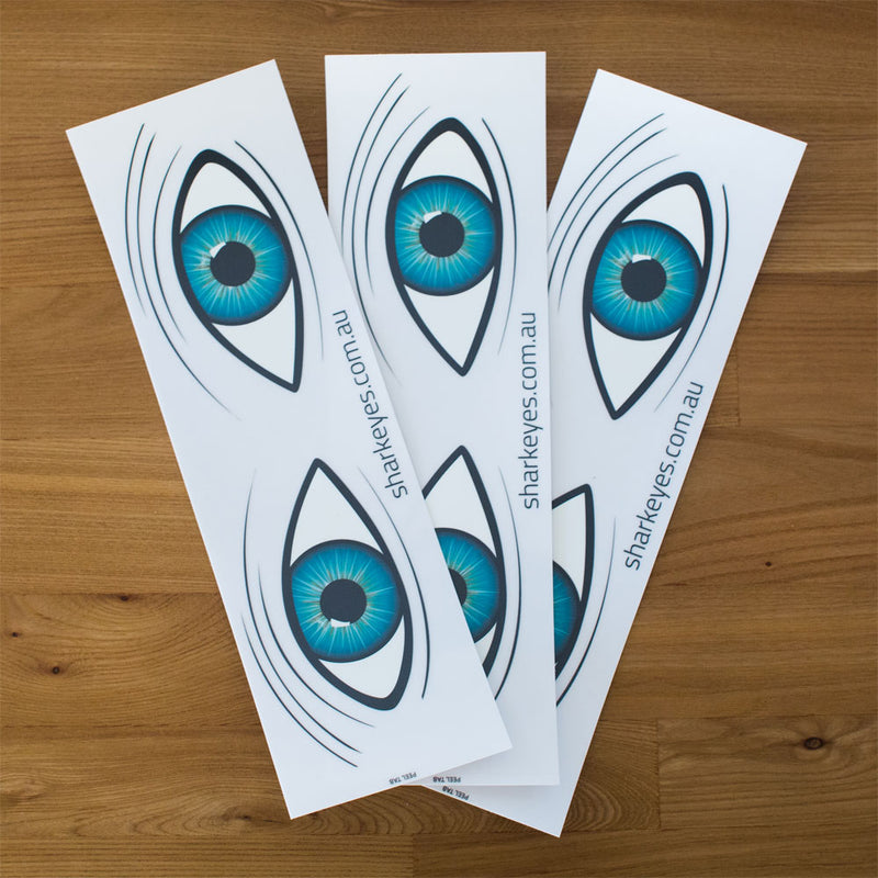 Shark Eyes Decal Large