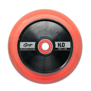 Load image into Gallery viewer, Grit Scooters Hollow Core Wheels H2O Red 110mm x 24mm - Prime Delux Store