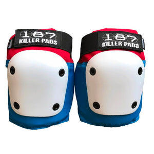 Load image into Gallery viewer, 187 Killer Pads Fly Knee Pad – Red / White / Blue - Prime Delux Store