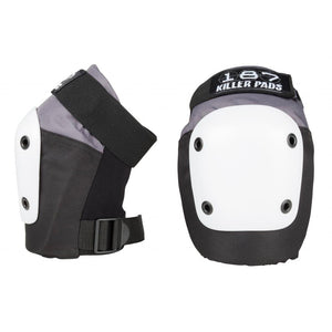 Load image into Gallery viewer, 187 Killer Pads Fly Knee Pad – Grey / Black / White - Prime Delux Store