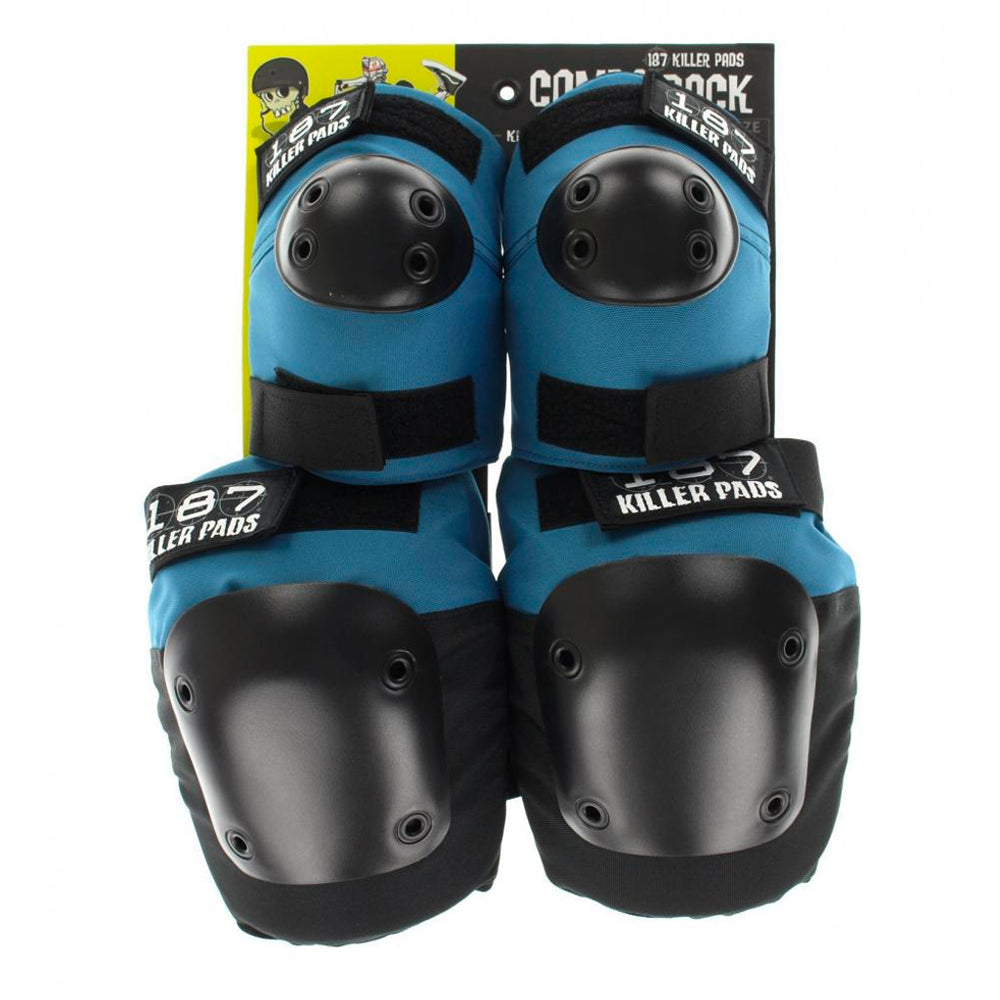 187 Killer Pads Combo Pack Knee & Elbow Slate - Blue - Prime Delux Store