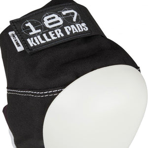 Load image into Gallery viewer, 187 Killer Pads Pro Knee Pad – Black / White - Prime Delux Store