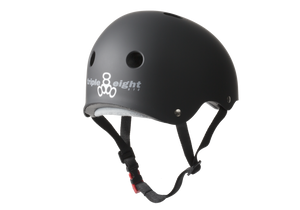 Load image into Gallery viewer, Triple 8 Sweatsaver Certified Rubber Black Helmet - Prime Delux Store