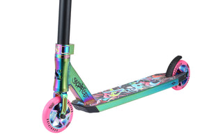 Load image into Gallery viewer, Sacrifice Flyte 100 V2 Neo/Pink Graffiti Scooter - Prime Delux Store