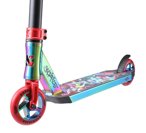 Load image into Gallery viewer, Sacrifice Flyte 115V2 Neo/Red Graffiti Scooter - Prime Delux Store