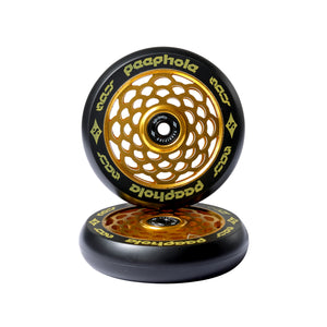 Sacrifice Spy Peephole Wheels 110mm - Black / Gold (x 2 / Sold as a pair) - Prime Delux Store