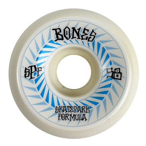 Load image into Gallery viewer, Bones SPF Spines P5 Sidecut 84b White 58mm - Prime Delux Store