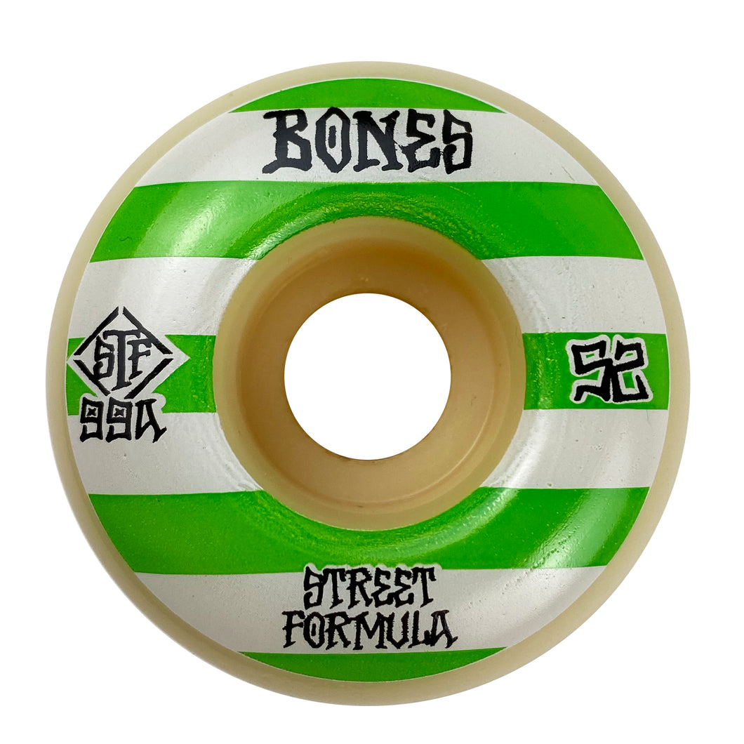 Bones - 52mm - STF Patterns 99a V4 Wide Wheels - White - Prime Delux Store