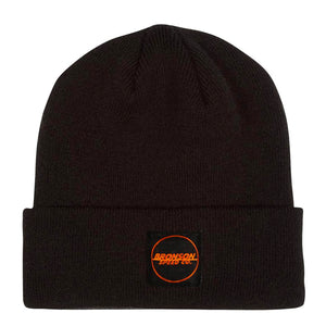 Bronson Spot Outline Long Shoreman Beanie - Black - Prime Delux Store