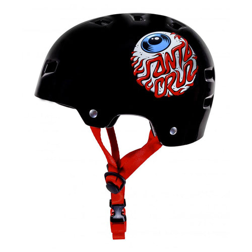Bullet x Santa Cruz Helmet Eyeball Youth - Gloss Black - Prime Delux Store