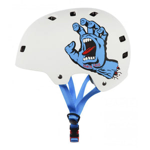 Bullet x Santa Cruz Helmet Screaming Hand - Matt White - Prime Delux Store