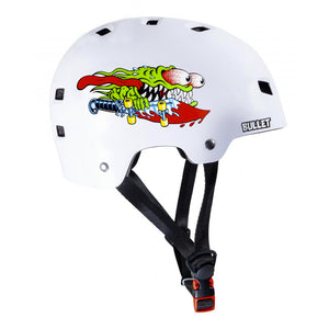 Bullet x Santa Cruz Helmet Slasher Youth - Gloss White - Prime Delux Store