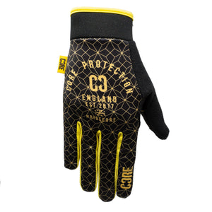 Load image into Gallery viewer, CORE Protection Gloves SR – Black / Gold Geo - Prime Delux Store