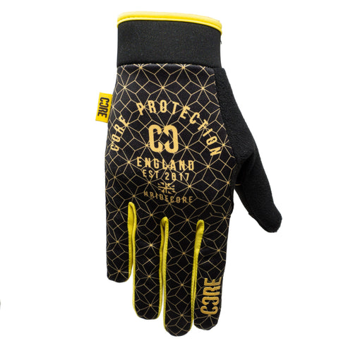 CORE Protection Gloves SR – Black / Gold Geo - Prime Delux Store