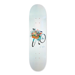 "Skateboard Cafe - 8.5"" - Flower Basket Deck - Grey - Prime Delux Store"