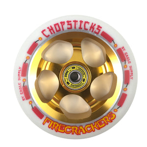 Chopsticks Scooter Wheel Firecrackers - White / Gold - Prime Delux Store