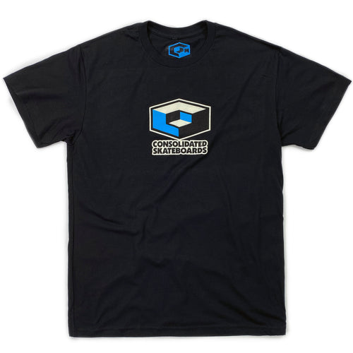 Consolidated 'Cube' T Shirt - Black - Prime Delux Store