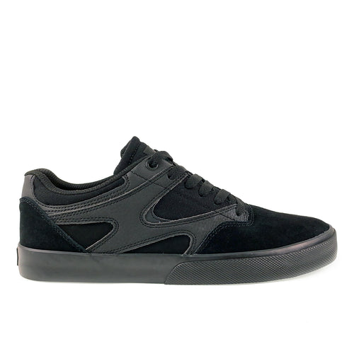 DC Shoes Kalis Vulc Leather Skate Shoes - Black / Black - Prime Delux Store