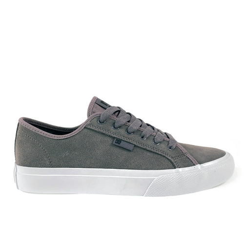 DC Shoes Manual S Leather Skate Shoes - Grey - Prime Delux Store
