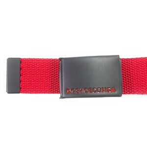 DC Shoes Web Belt - Red - One Size - Prime Delux Store