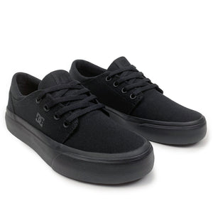 DC Trase TX Youth Shoes - Black / Black - Prime Delux Store