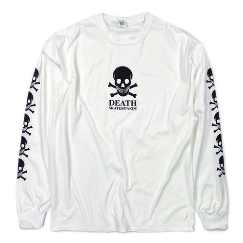 Death OG Long Sleeve T Shirt - White - Prime Delux Store