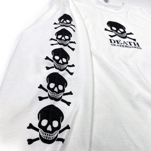 Load image into Gallery viewer, Death OG Long Sleeve T Shirt - White - Prime Delux Store
