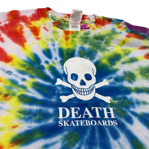 Load image into Gallery viewer, Death OG Skull Tiedye T Shirt - White - Prime Delux Store