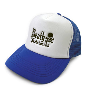 Load image into Gallery viewer, Death Skateboards Trucker Mesh Hat - Royal - Prime Delux Store