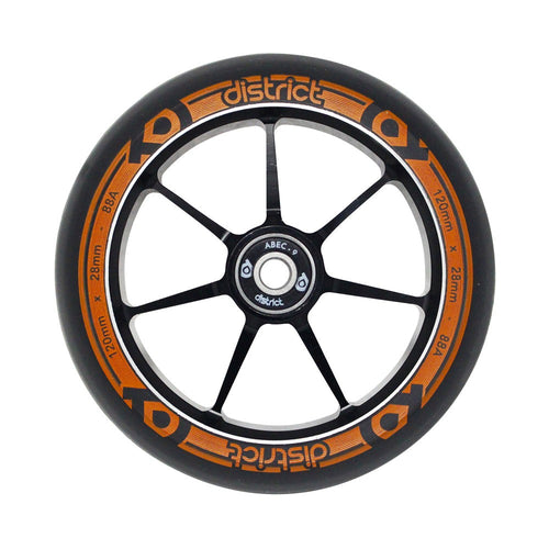 District Scooters Dual Width Core 120mm Wheel - Black / Orange - Prime Delux Store