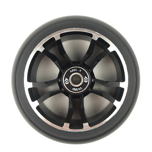 District Scooters 110mmx30mm LM110 Wide Milled Core Wheel - Black / Black - Prime Delux Store