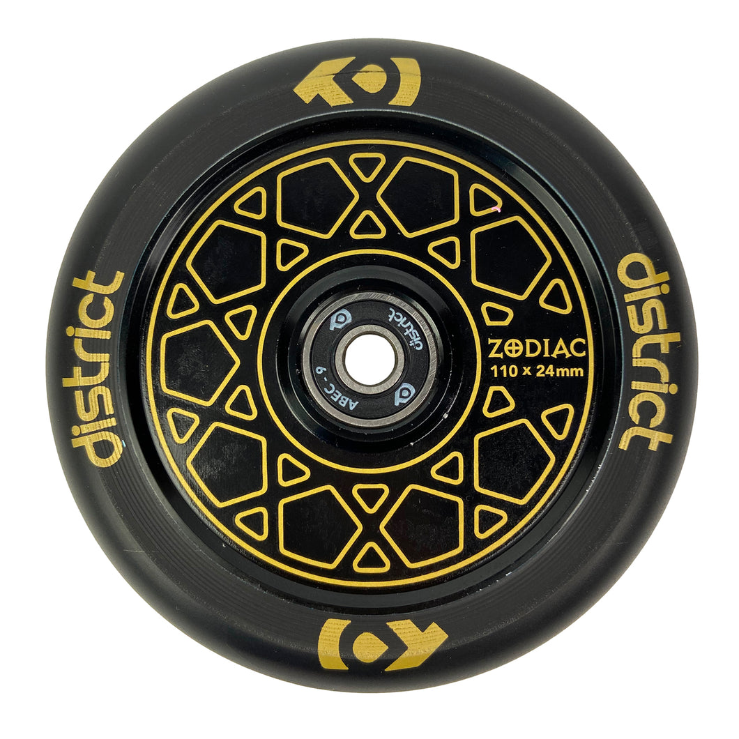 District Zodiac Wheel 110mm - Gold / Black - Prime Delux Store