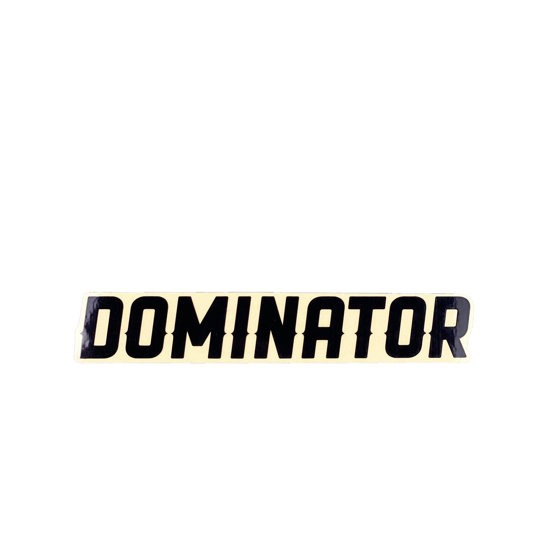Dominator Strip Logo Sticker - Black - Prime Delux Store