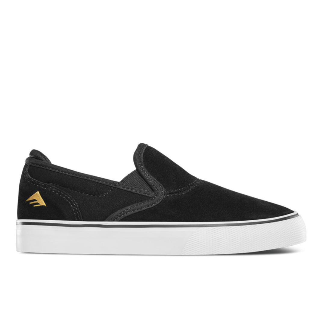 Emerica Wino G6 Slip-On - Black / White / Gold - Prime Delux Store