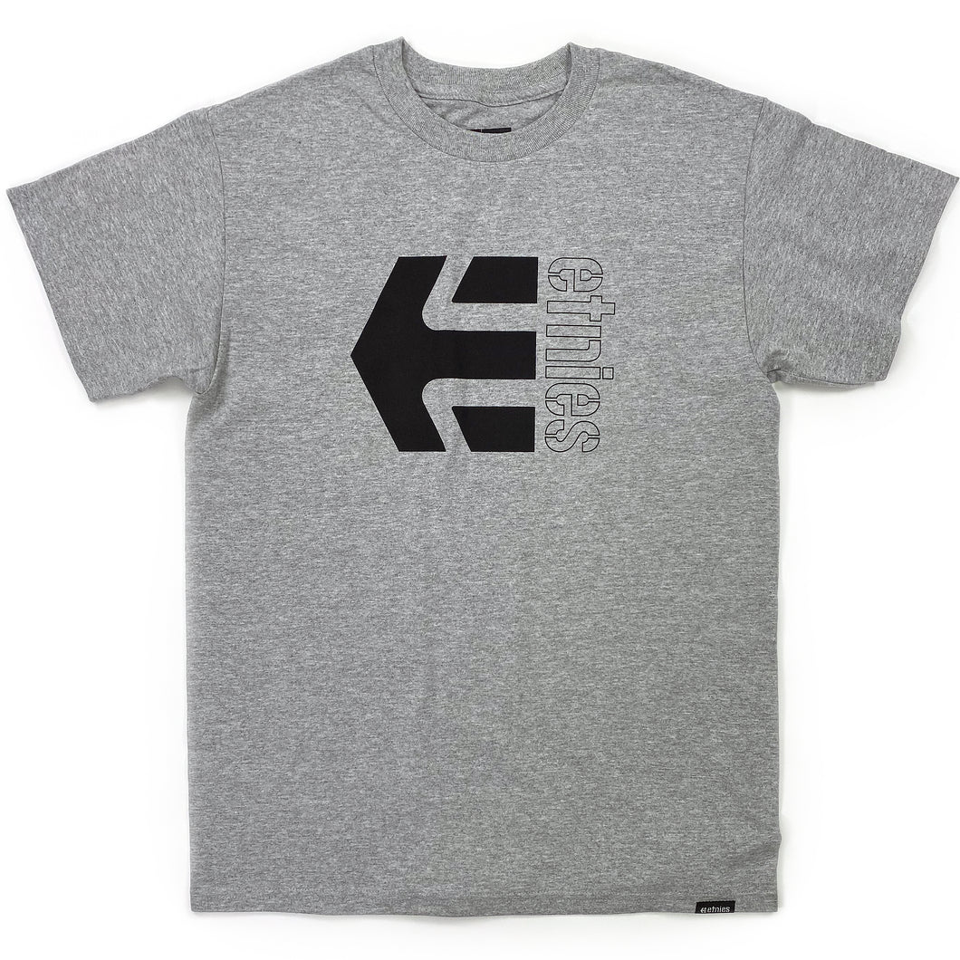 Etnies Corp Combo T-shirt - Grey / Heather - Prime Delux Store
