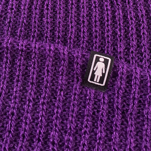 Load image into Gallery viewer, Girl Skateboards OG Clip Beanie - Purple - Prime Delux Store