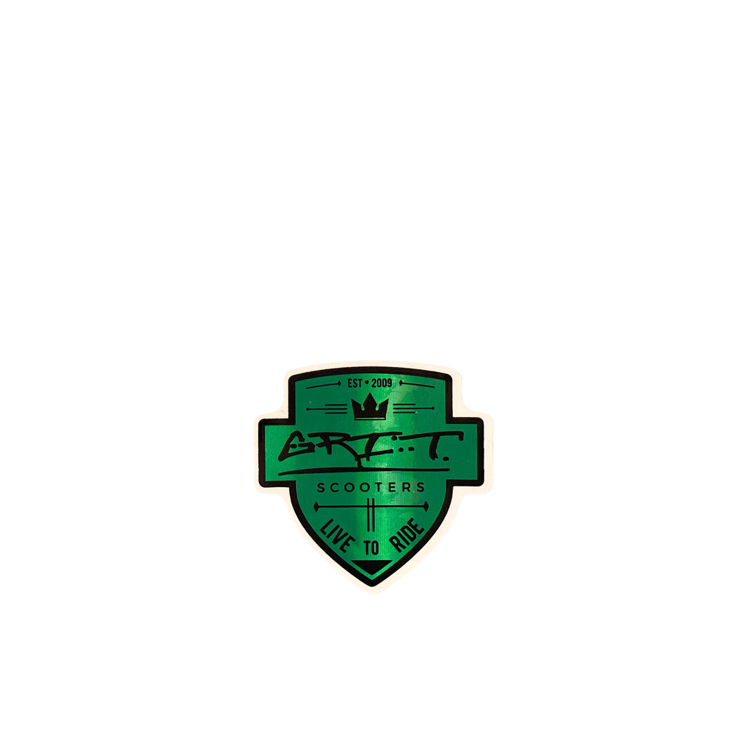 Grit Scooters Shield Sticker - Green - Prime Delux Store